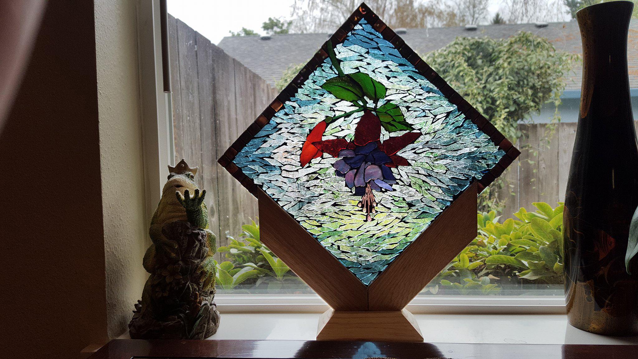 phyllis diamond frame mosaic